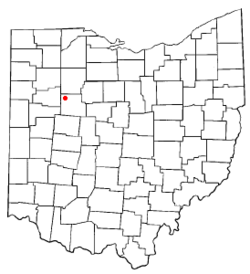 Location of Ada, Ohio