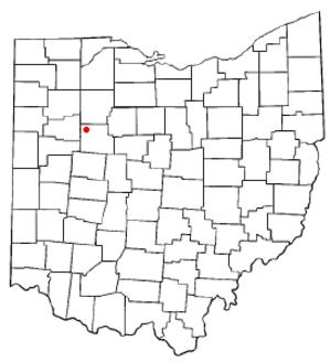 Ada, Ohio - Image: OH Map doton Ada