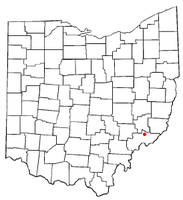 Location of Lower Salem, Ohio