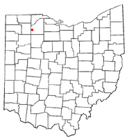 Location of Milton Center, Ohio