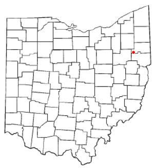 Sebring, Ohio - Image: OH Map doton Sebring