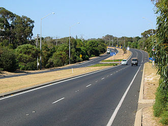 Forrest Highway - Dual carriageway section of Old Coast Road south of Mandurah