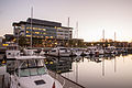 Oakland Marina Dawn - Jack London Market (15367051056).jpg