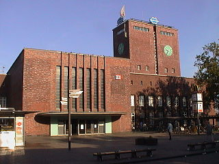 Oberhausen Hauptbahnhof railway station in Oberhausen, Germany