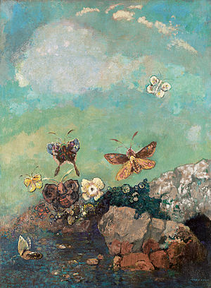Odilon Redon - Butterflies, around 1910 (Museum of Modern Art)