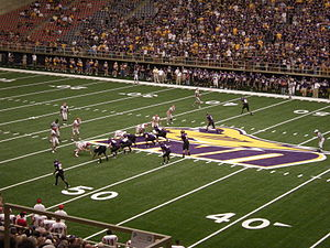 Northern Iowa Panthers football - UNI's offense against the St. Francis Red Flash September 19, 2009