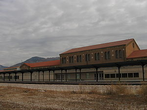 Union Station (Ogden, Utah) - Station building trackside