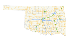 List of state highways in oklahoma wikipedia map showing oklahomas numbered highways sciox Choice Image