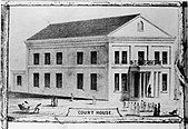 Drawing of the Honolulu Courthouse as completed.