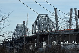 Goethals Bridge - Bridge partially demolished, January 2018
