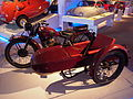 Old red colored Typhoon motorcycle combination pic2 Teknikens och Sjöfartens hus, Science and Maritime House.JPG