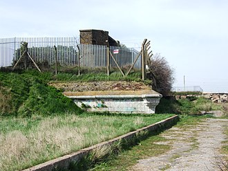 Sheerness Dockyard - Remnant of de Gomme's indented line on the eastern shore of Sheerness.