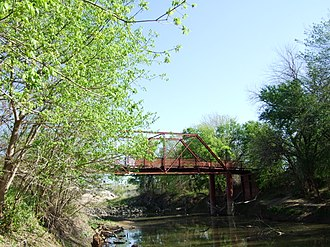 National Register of Historic Places listings in Denton County, Texas - Image: Oldaltonbridge