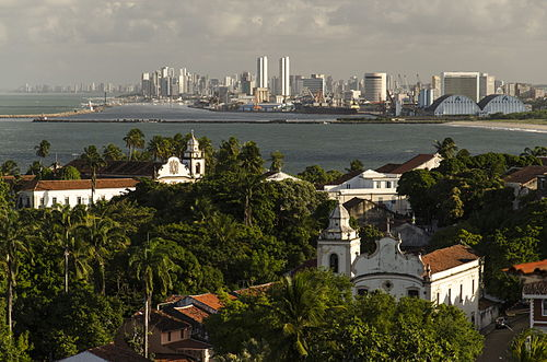 Aerial view of the Historical city centre. Olinda e Recife.jpg