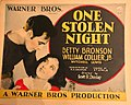 One Stolen Night (1929) lobby card.jpg