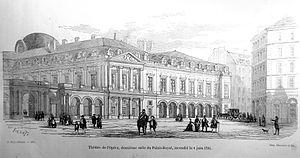 Pierre-Louis Moreau-Desproux - Image: Opéra de Paris, salle du Palais Royal, incendié le 8 juin 1781