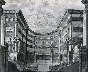 Opernhaus am Taschenberg - The changed interior in 1691