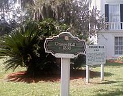 Orange Hall Sign