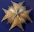 Order of the Polar Star grand cross star (Sweden) - Tallinn Museum of Orders.jpg