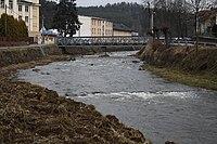 Oslava river near Motorpal in Velké Meziříčí, Žďár nad Sázavou District.jpg