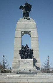 The National War Memorial, in Confederation Square.