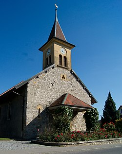 Oulens-sous-Echallens village church