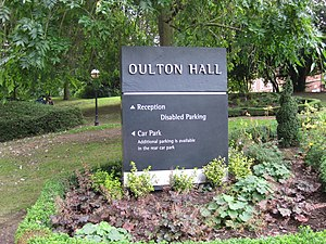 Oulton Hall - Image: Oulton Hall Sign 2016