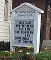 Our Lady of Sorrows Catholic Church in Portland OR Sign.jpg