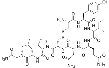 chemical structure of oxytocin