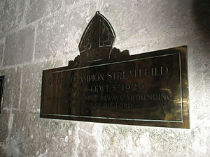 William Streatfeild - Memorial within Chichester Cathedral