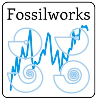 Fossilworks - Image: PBDB Fossil Works Logo White