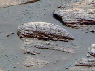 Eagle (Meridiani Planum crater) - Approximate true-color photo of Last Chance.