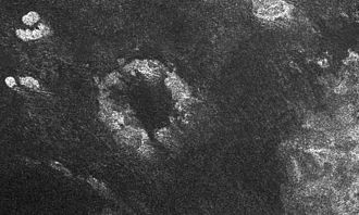 Guabonito (crater) - Image: PIA08425 Radar Images the Margin of Xanadu
