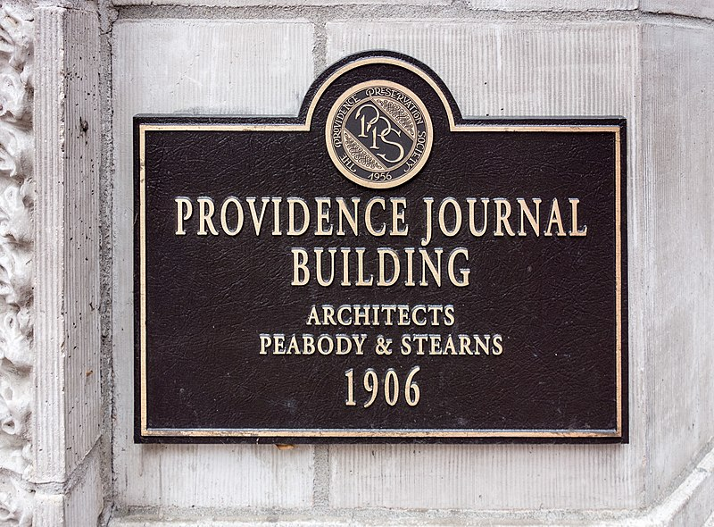PPS Plaque on Providence Journal Building.jpg