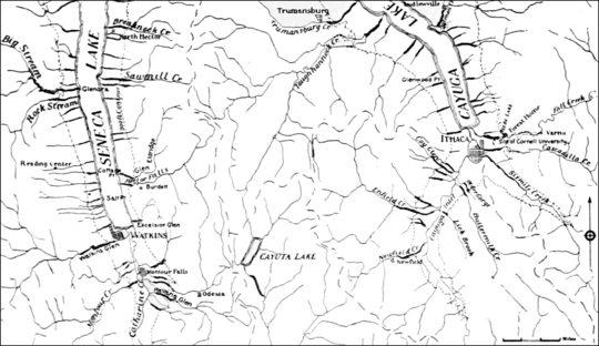 PSM V68 D391 Sketch map of the southern end of cayuga and seneca valleys.png