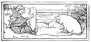 illustration from a book of fairy tales