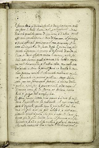 Страница из итальянской рукописи «Города Солнца» (BCT-1538). Тренто, Муниципальная библиотека
