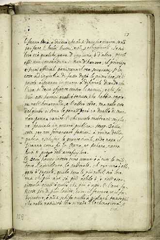 The City of the Sun - Manuscript page (Trento) 1602