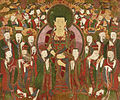 Painting of Ksitigarbha Bodhisattva and Ten Underworld Kings at Haeinsa.jpg