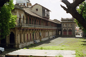 Rajkot district - Naulakha Palace in Gondal