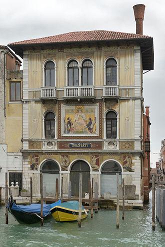 Antonio Salviati - The Palazzo Salviati shop of the Salviati family in Venice