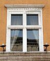 Palazzo dei penitenzieri, finestra con nome cardinale della rovere.JPG