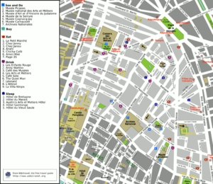 3rd arrondissement of Paris - Map of the 3rd arrondissement