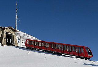 Parsenn Funicular funicular railway in the resort of Davos in the Swiss canton of Graubünden