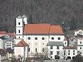 Passau, Michaelskirche von Süden über den Inn gesehen 1.jpeg