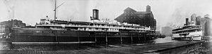 Passenger boats at Buffalo 1909