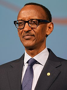 Close up profile picture of Paul Kagame, taken in 2014
