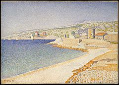 Paul Signac - The Jetty at Cassis, Opus 198.JPG