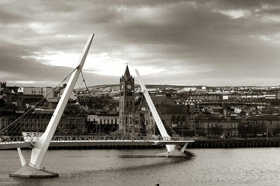 Peace bridge Derry 2012