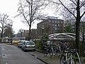 Pedestrian and bicycle bridge in Amsterdam-West over the canal Jacob van Lennepkade.jpg